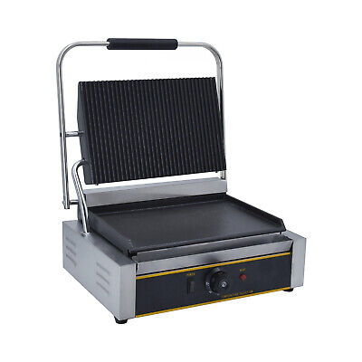 Electric Griddle Panini Contact Grill Press Sandwich Toaster Maker Commercial UK • 169£
