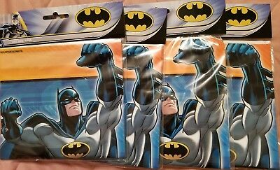 4 Pack BATMAN LOOT Treat Surprise Birthday Party Gift BAGS 9 X 65 Lot New O