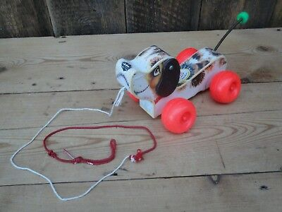 Vintage Fisher Price 693 Little Snoopy Pull Along Dog Childrens Toy H5 • 16.99£