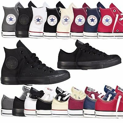 View Details Converse Unisex Chuck Taylor Classic All Star Lo OX Hi Tops Canvas Trainers New • 29.95£