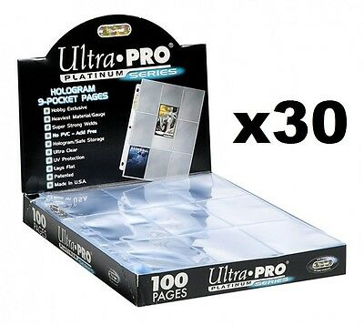 AU19.50 • Buy Ultra Pro Platinum 9 Pocket Trading Collector Cards Album Sleeves 30 Pages