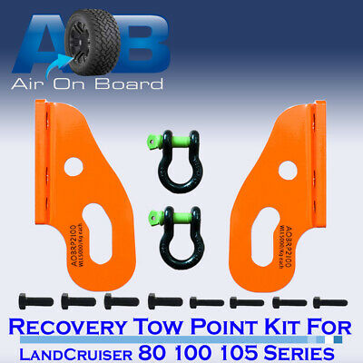 AU89 • Buy Recovery Tow Points Kit For Toyota LandCruiser 80 100 105 2 X SHACKLES