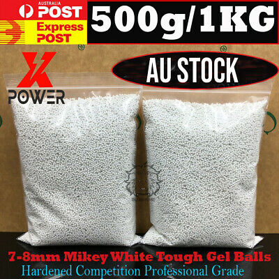 AU29.98 • Buy 7MM-8MM Gelballs 500g / 1KG 7-8mm Hardened Toughest Milky White Ammo Gel Blaster