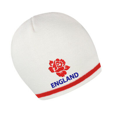 £11.99 • Buy England Beanie Hat - White/red, Ideal Gift