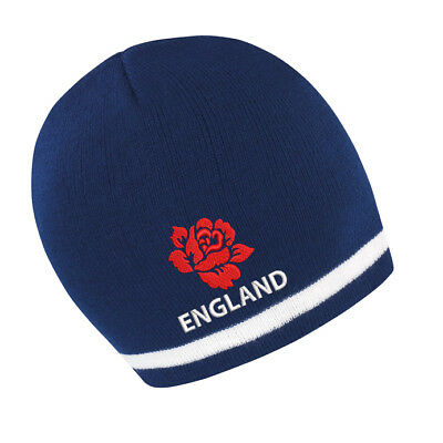 £11.99 • Buy England Beanie Hat - Navy/white, Ideal Gift