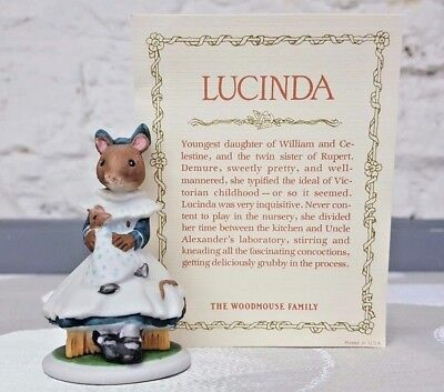 Franklin Mint 1985 The Woodmouse Family Lucinda Porcelain Figurine  • 7.99$