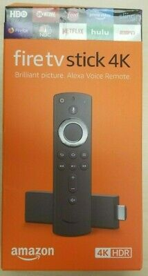 AU81.61 • Buy Amazon Fire TV Stick 4K W/ Alexa Voice Remote, 2019! UNALTERED!! FACTORY SEALED!
