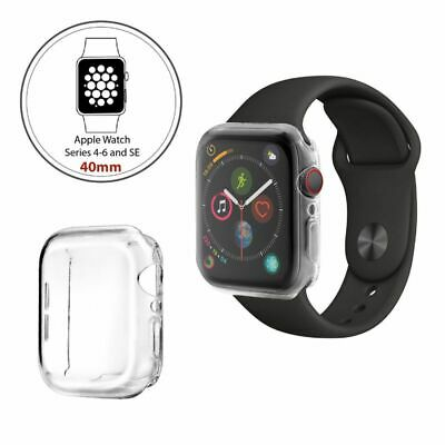 $ CDN3.14 • Buy For Apple Watch Series 4 5 Clear TPU Full Cover Screen Protector Case 40mm 44mm
