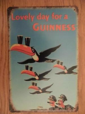 £5.50 • Buy Vintage Retro Metal Sign Advertising Plaque Toucan Lovely Day For A Guinness Fab