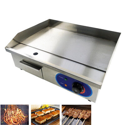 £109 • Buy 3Kw Electric Griddle Commercial 55cm Flat Hotplate BBQ Grill Bacon Countertop