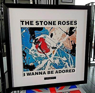 £39.99 • Buy The Stone Roses Framed I Wanna Be Adored-Print-Ian Brown-Fools Gold Oasis