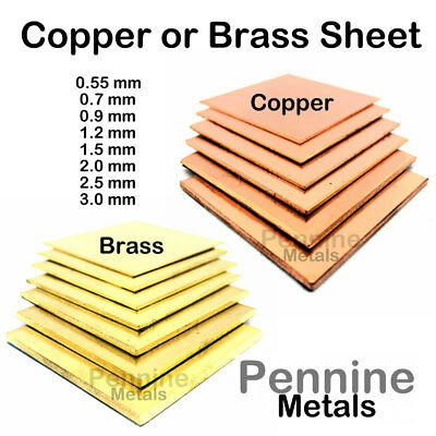 £7.75 • Buy BRASS OR COPPER SHEET 0.55 To 3.0 Mm Guillotine Cut Metal From UK Trade Supplier