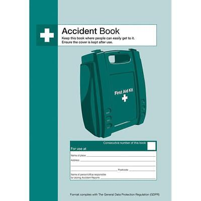 £4.75 • Buy First Aid Injury ACCIDENT REPORT BOOK FOLDER HSE Compliant Office Health Safety