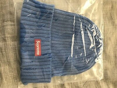 0a4e0bd2115 SUPREME OVERDYED RIBBED BEANIE ROYAL SS18 2018 RED WHITE BOX LOGO Ready To  Ship • 100.00