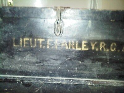 WW1 Antique Campaign Chest Millitary Travel Trunk Blanket Box Coffee Table  • 150£