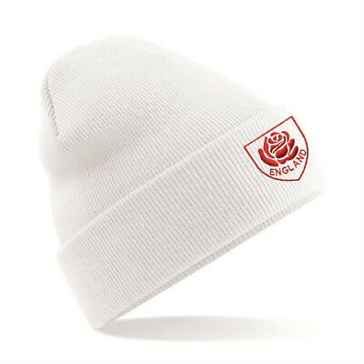 £11.99 • Buy Mens/ Womens England Beanie Hat - White, Ideal Gift