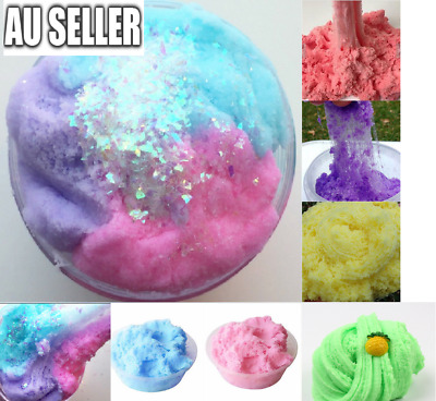 AU9.99 • Buy Fairy Floss Cloud Slime Reduced Pressure Mud Stress Relief Kids Clay Toy 6 Color