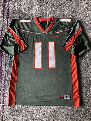 Nike NCAA University Of Miami Hurricanes  11 Football Jersey Mens Medium •  20.00  b223deec7