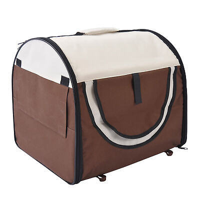 PawHut Folding Fabric Soft Pet Crate Dog Cat Travel Carrier Cage Kennel House • 23.99£