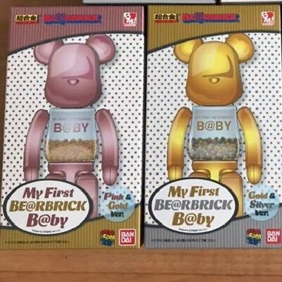 $459 • Buy Medicom Toy MY FIRST BE@RBRICK B@BY Alloyed 200% PINK & GOLD, Gold & Silver 2PCS