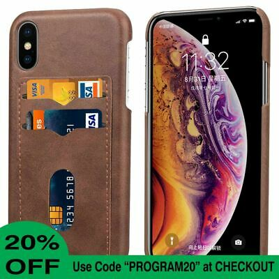 AU8.89 • Buy For IPhone 11 Pro Max XR XS 8 7 6 SE Case Leather Wallet Card Holder Hard Cover