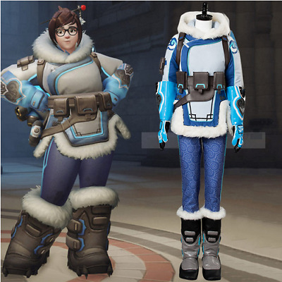 AU200 • Buy Game Overwatch OW Mei Ling Zhou Cosplay Costume Overwatch Uniform Suit Boots Wig