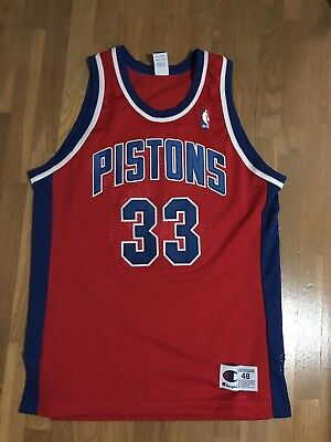 $ CDN149.99 • Buy Grant Hill #33 Detroit Pistons Vintage Sewn Champion Jersey Size Men's 48 NBA