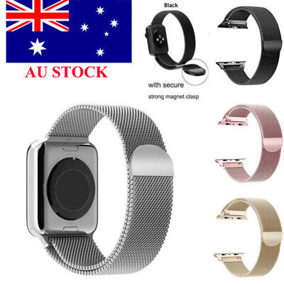 AU11.99 • Buy For Apple Smart Watch Band 3 2 1 Magnetic Milanese Stainless Wrist Strap 38/42MM