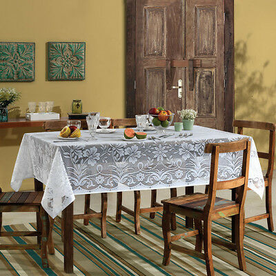 $19.99 • Buy White Lace Rectangle Tablecloth. About 6 People Size 1.5x2.10 Meter 60x82 Inches