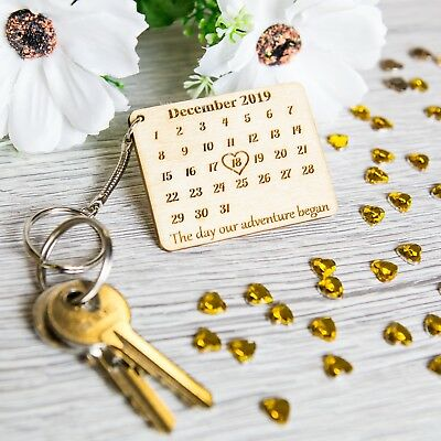 Personalised Wooden Mothers Day Keyring Calendar The Day You Became My Novelty • 3.89£