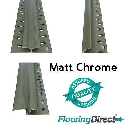 Matt Chrome - Carpet Entrance Threshold - Flooring Strip - Door Bar Trim Metal • 6.99£