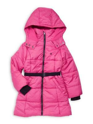 $34.99 • Buy CALVIN KLEIN® Little Girl's 5 Aspen Quilted Belted Fit & Flare Coat NWT $100