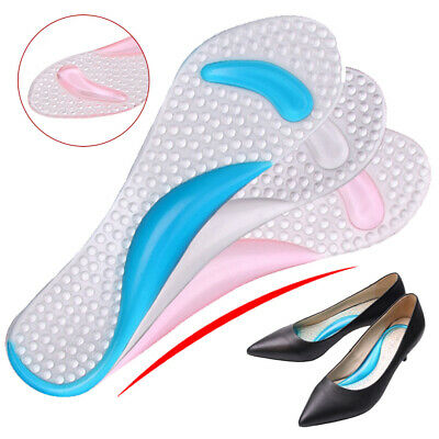 Silicone High Heel Gel Foot Arch Supports Shoes Cushion Insoles Insert Pad • 2.77£