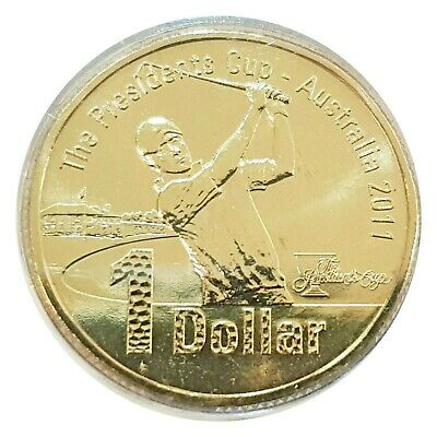 AU6.95 • Buy Australia 2011 The Presidents Cup Golf $1 Dollar UNC Coin In Capsule/Carded RAM