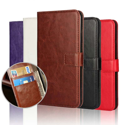 Premium Wallet Leather Book Case Cover  For Huwaei P20 Mate Pro Y7 Y6 P SMART 19 • 3.93£
