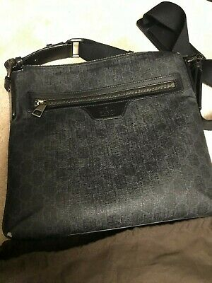 11843e3d3ced GUCCI MEN S NIGHT COURRIER GG MESSENGER CROSSBODY BAG Italy- 699 • 699.00