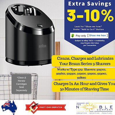 AU114.95 • Buy Braun Shaver Series 9 Clean & Renew Cleaning System Cleaner And Charging Station