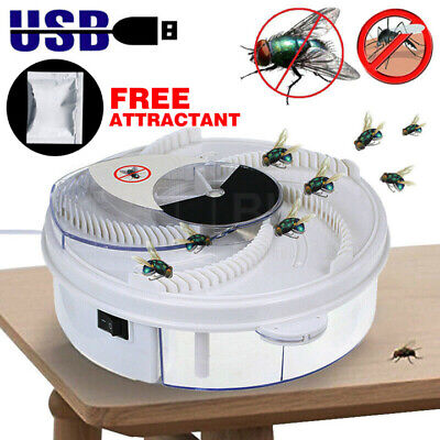 AU18.98 • Buy Insect Killer Fly Trap Electric Catcher Bug With Trapping Food -White USB Cable
