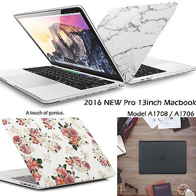$20.99 • Buy Marble Skin Painted Rubberized Hard Case Cover F New Macbook Pro 13 15 Touch Bar