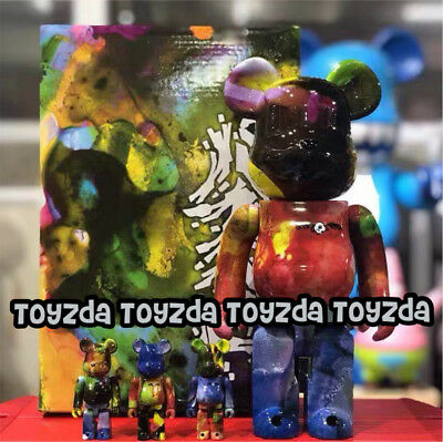 $428.88 • Buy Medicom 2018 Pushead 400% + 100% Different Colors Bearbrick Be@rbrick 4pcs Set