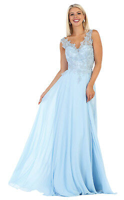 AU167.02 • Buy Special Occasion Chiffon Gowns Formal Long Evening Mesh Prom Dresses & Plus Size