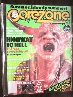 $12 • Buy Gorezone Magazine #15 (Summer 1990, 4 Posters) Highway To Hell, Whispers