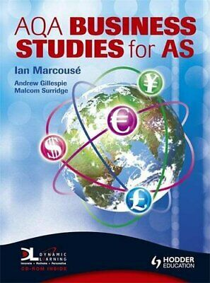 AQA Business Studies For AS: The Marcous� Edition... By Andrew Hammond Paperback • 4.49£