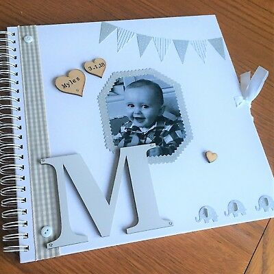 EXTRA LARGE New Baby Newborn Photo Album Scrapbook Personalised Mothers Day • 29.99£