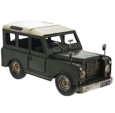 Vintage Transport Land Rover Defender 4 X 4 Model Metal Tin Ornament Collectable • 32.95£