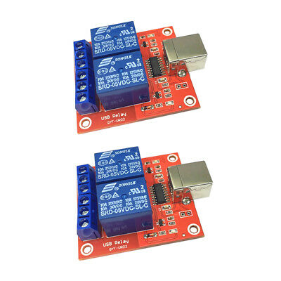 £7.57 • Buy 2 Channel USB Relay Module Relay Shield USB HID Mode For Relay Control 2PCS