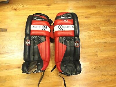 $79.99 • Buy Vintage Heaton Helite 5 3700 Goalie Hockey Pads 31  Black Red