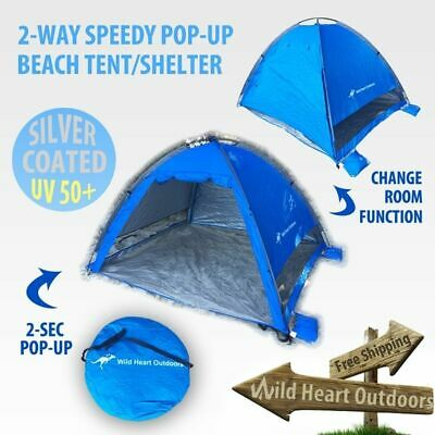 AU39.95 • Buy BEACH Shelter Tent Speedy Pop Up Dome UV PROOF Silver Coated Camping SUN SHADE