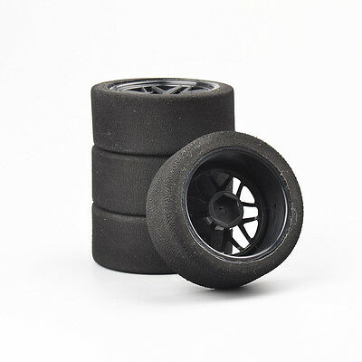 4Pcs Untralight Foam Tires&Wheel 12mm Hex For HSP RC 1:10 On Road Racing Car  • 14.55£