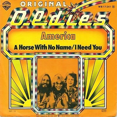 £11.02 • Buy 7  America – A Horse With No Name / I Need You / Original Oldies // Germany